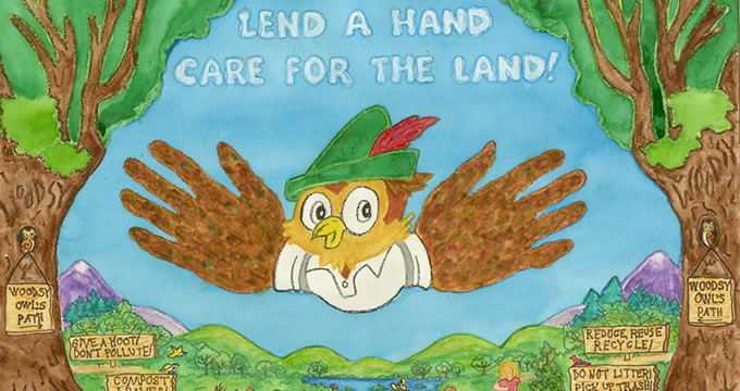 woodsy owl caring for the land