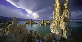 A photo of South Tufa towers of Mono Lake