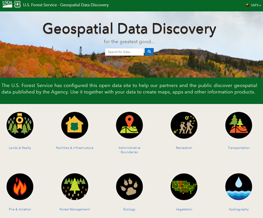 Image: a screen capture of the Geospatial Data Discovery webpage