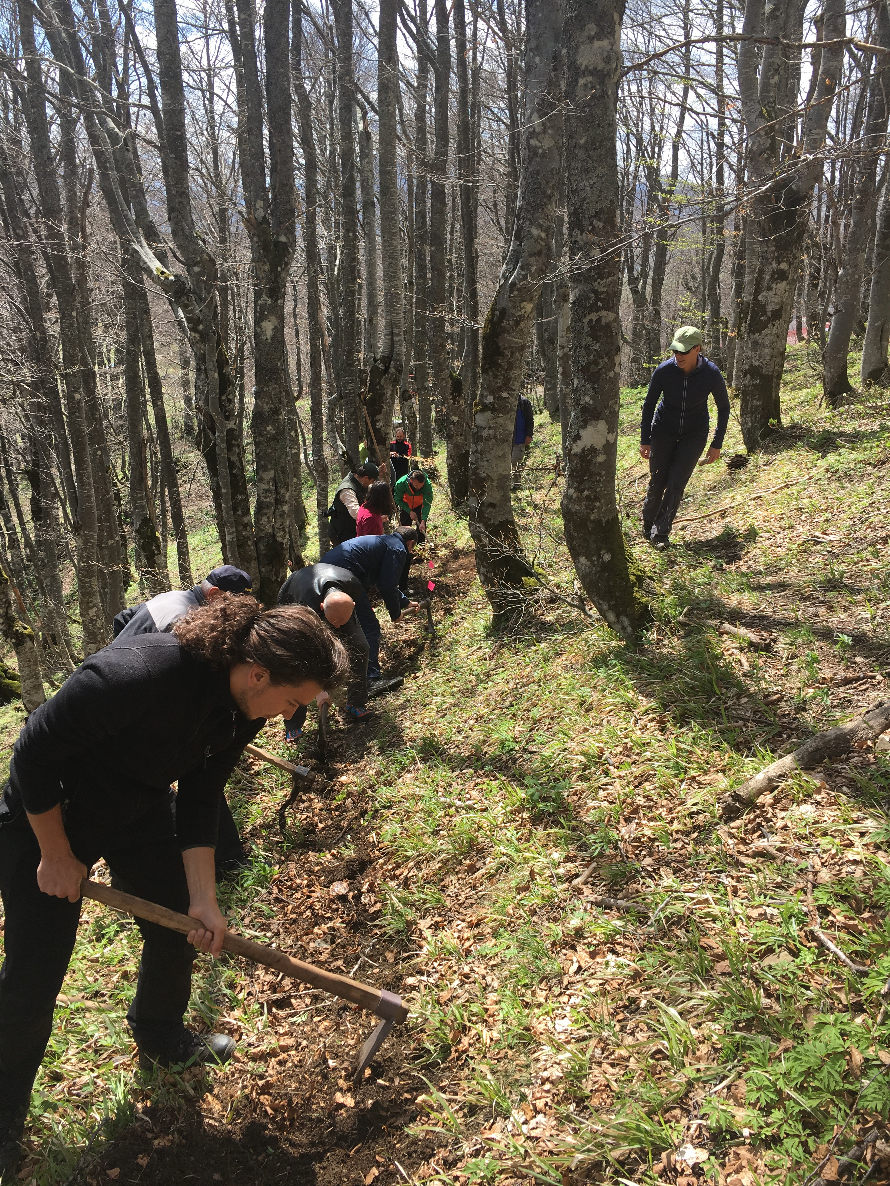 Volunteers and staff from Terra Dinarica and various partner organizations got some hands-on practice during a workshop on trail design, construction and maintenance led by USFS specialists Cindy Ebbert and Sam Massman.