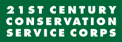 A logo for 21 century conservation service corps