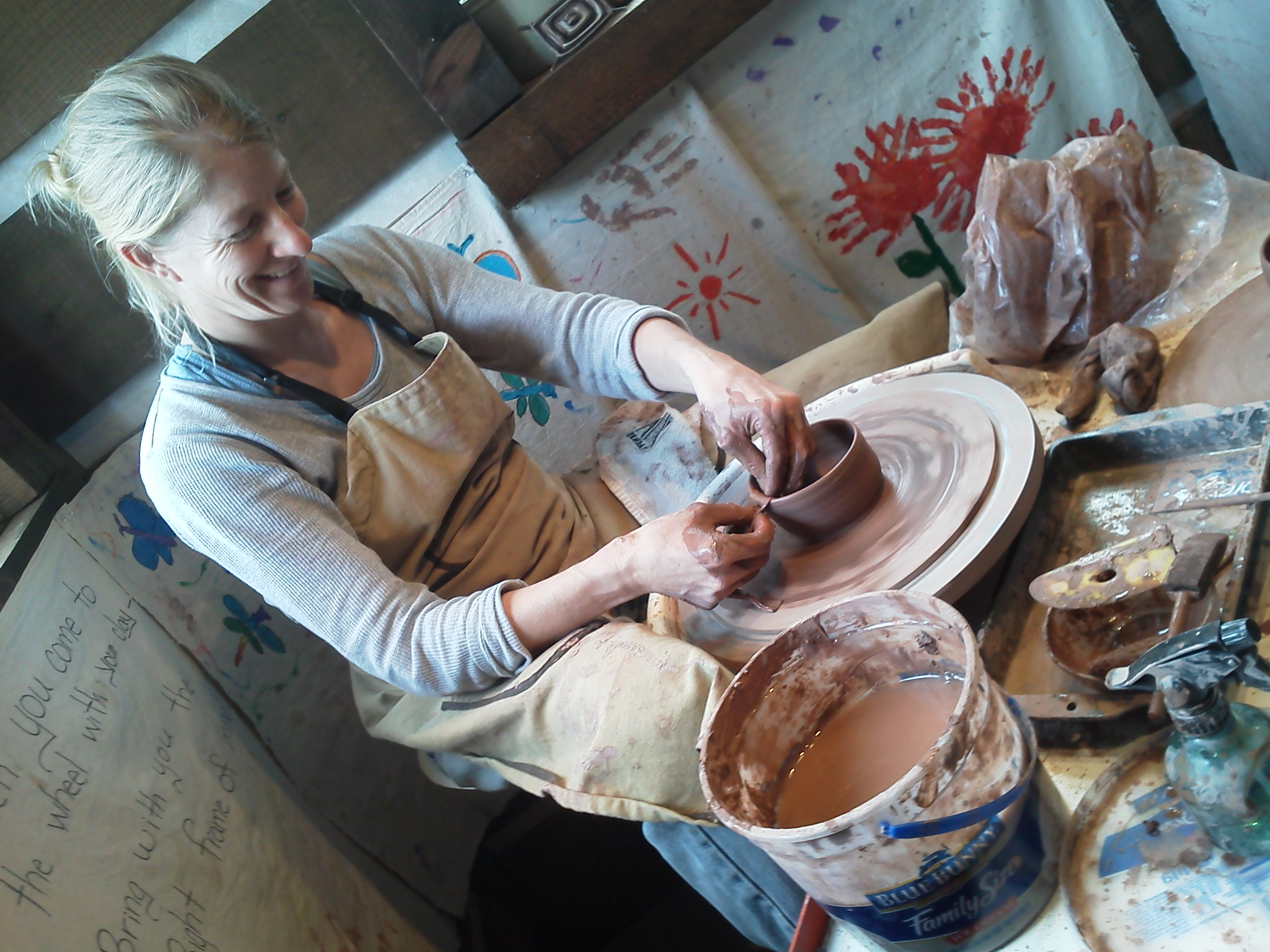 USFS Zone Fire Management Officer Jen Rabuck enjoys pottery during time off from work. (Photo: USDA / U.S. Forest Service)