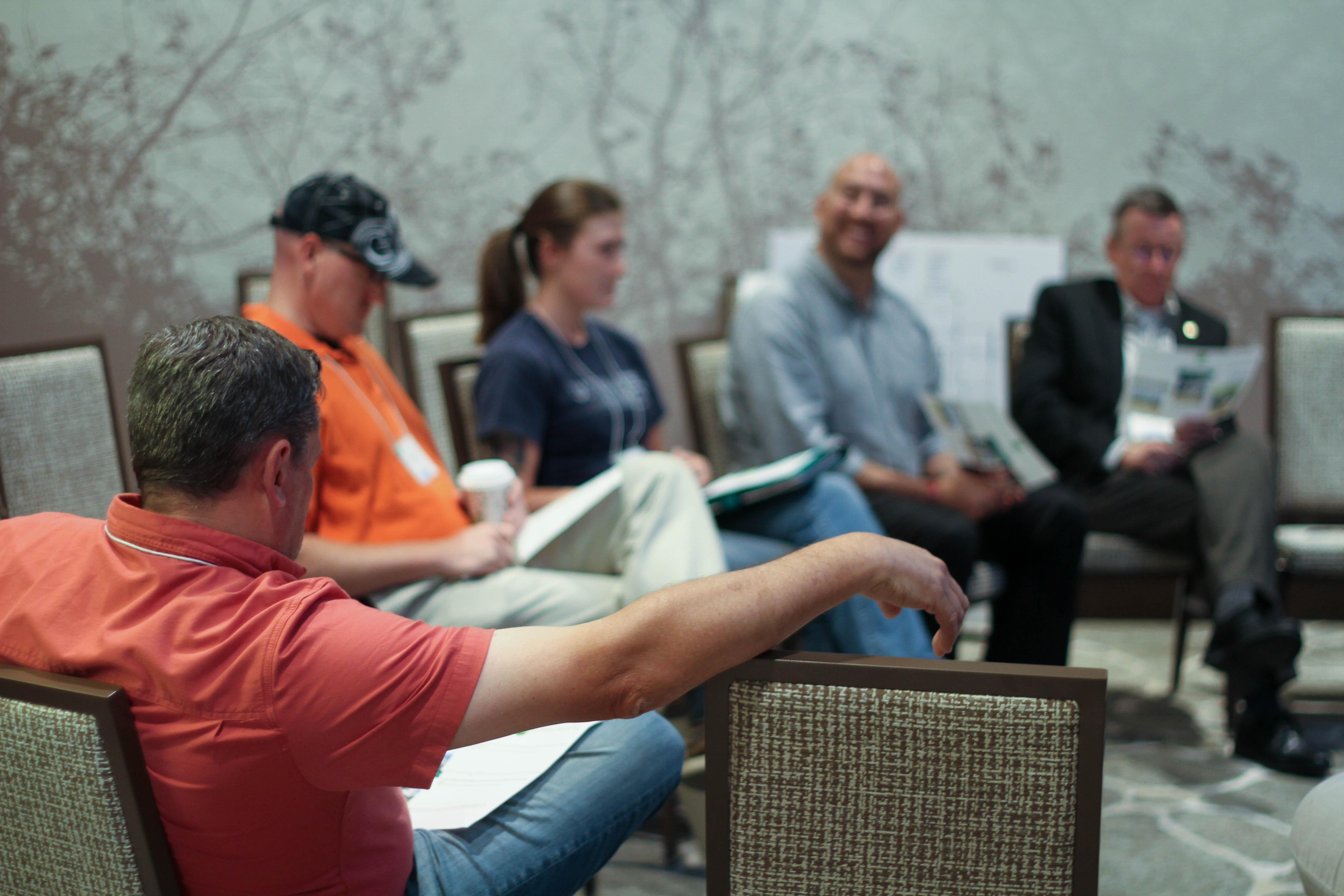 Photo: New employees participate of breakout sessions at NNEO
