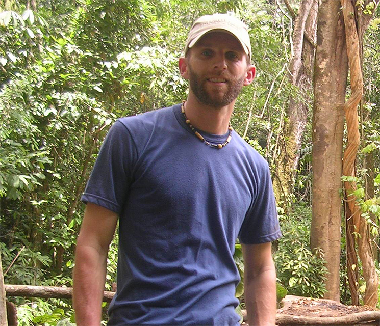 A photo of Jim Beck in a tropical forest