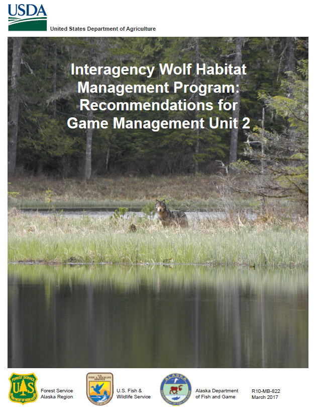 Cover for the Interagency Wolf Habitat Management Program: Recommendations for Game Management Unit 2