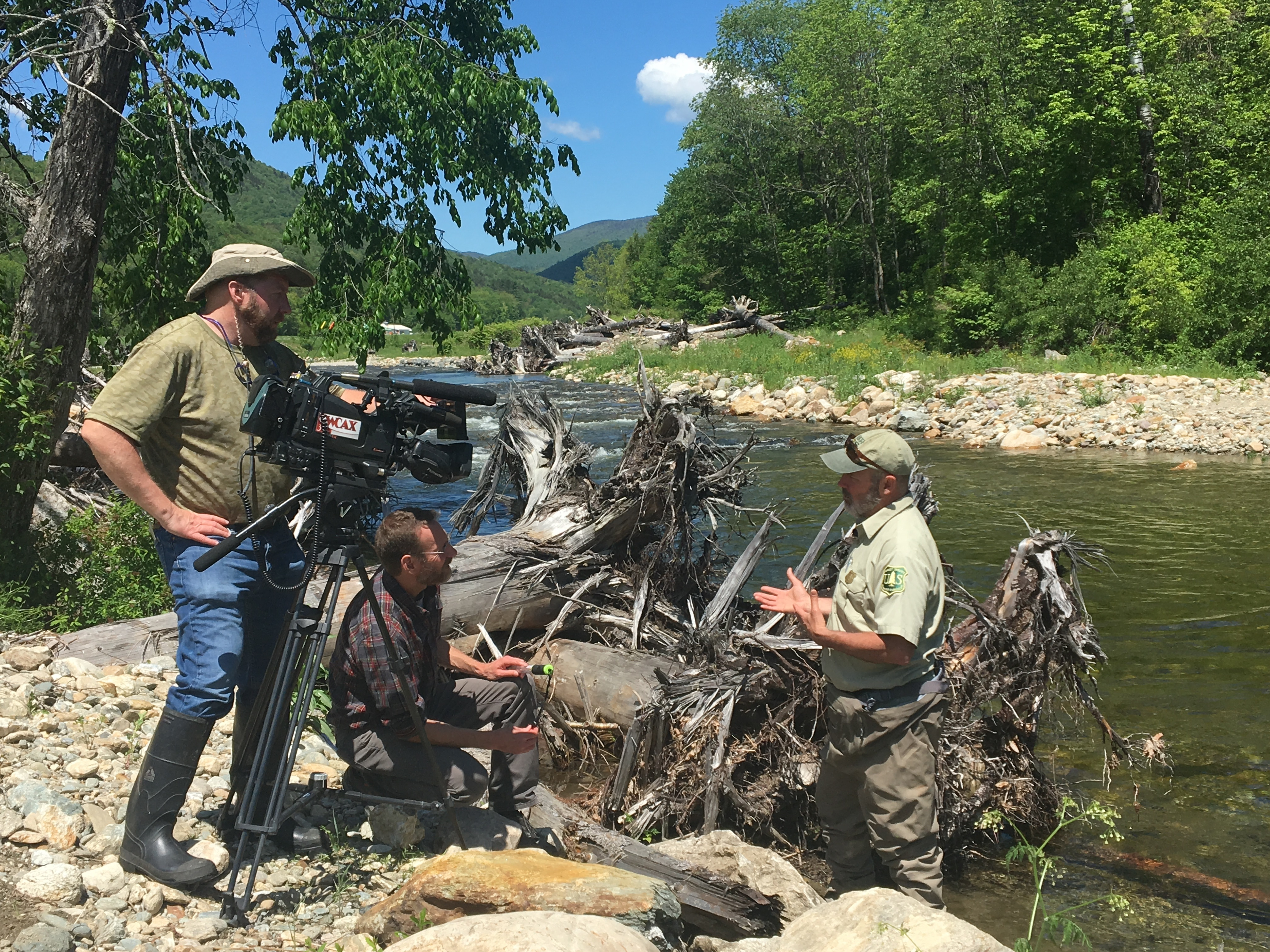 Dan McKinley discusses the Freshwater Snorkeling Program during an interview with WCAX in Vermont