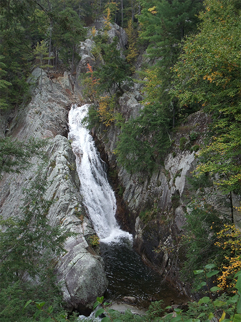 A photo of Green Mountain National Forest's beautiful Falls of Lana.