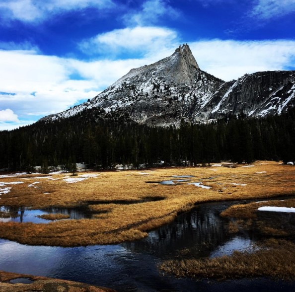 A photo of Cathedral Peak mountain
