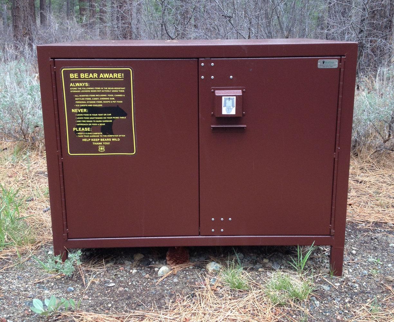 A photo of a food storage locker