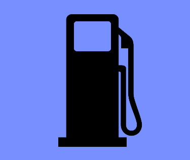 A graphic of a gasoline pump