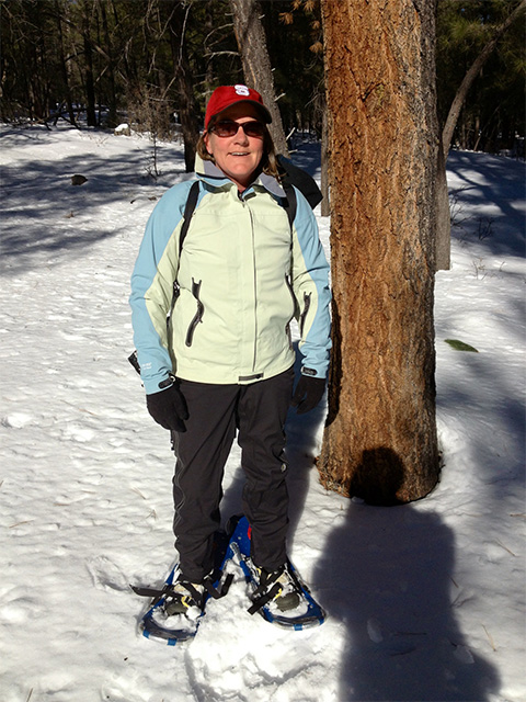 A photo of Virginia Jones on the Coconino National Forest in winter