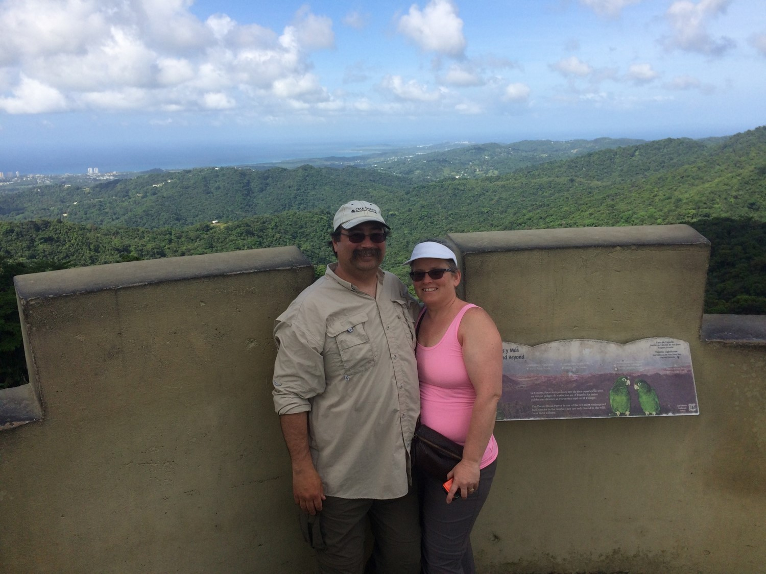 Before Hurricane Maria - Randy Kolka and his wife Susan in San Juan, Puerto Rico during a visit to the El Yunque National Forest to explore the Luquillo Experimental Forest.