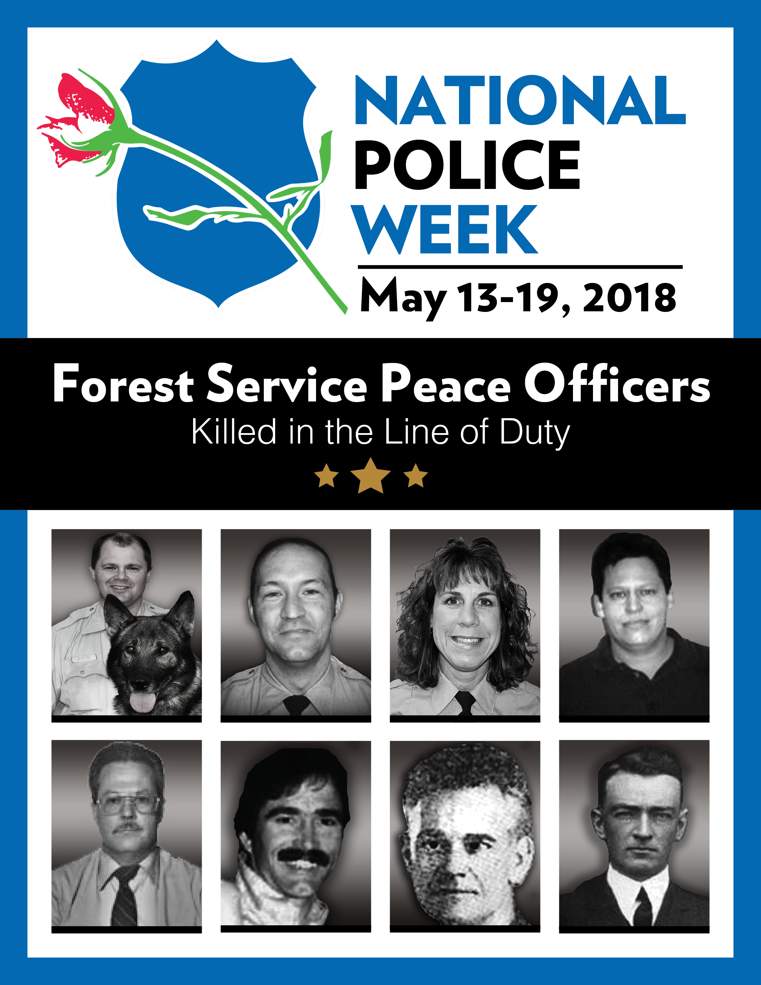 Photos of law enforcement officers killed in the line of duty.