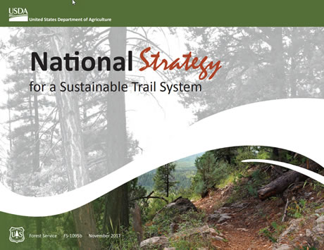 National Strategy for a Sustainable Trail System cover