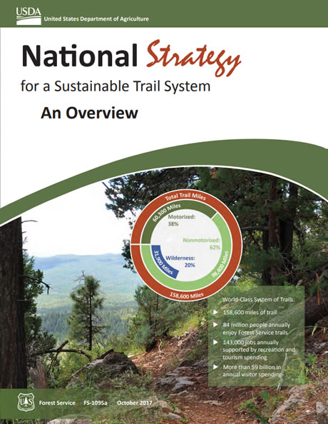 National Strategy for a Sustainable Trail System Overview cover.