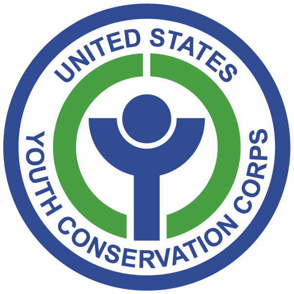 A photo of the youth conservation corps logo