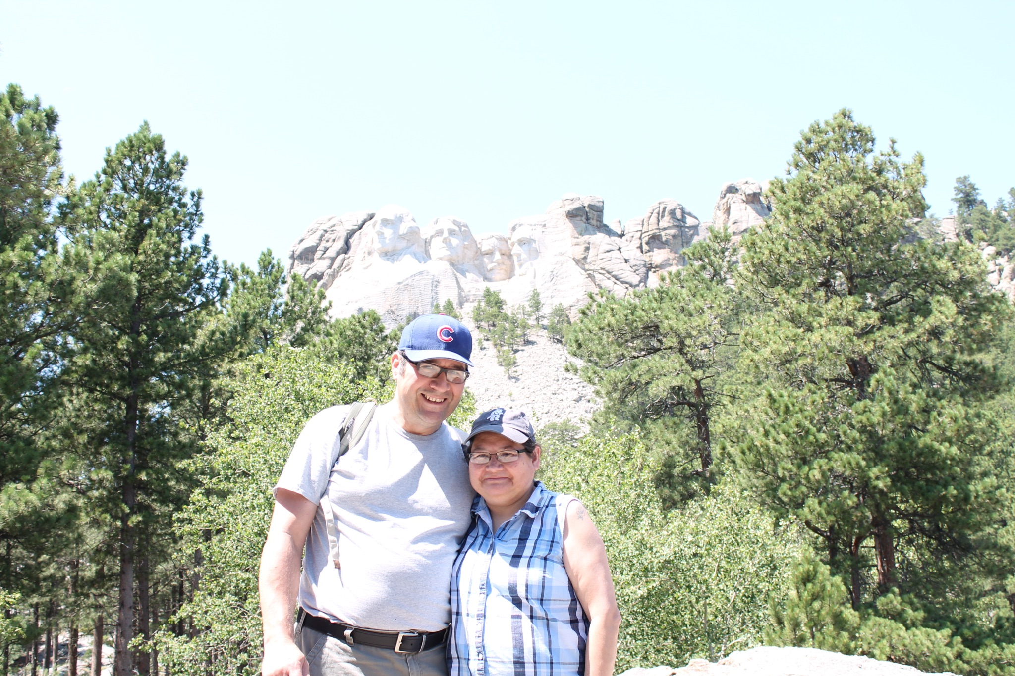 A picture of Peggy Castillo and her husband, USFS Northern Research Station Forester Paul Castillo