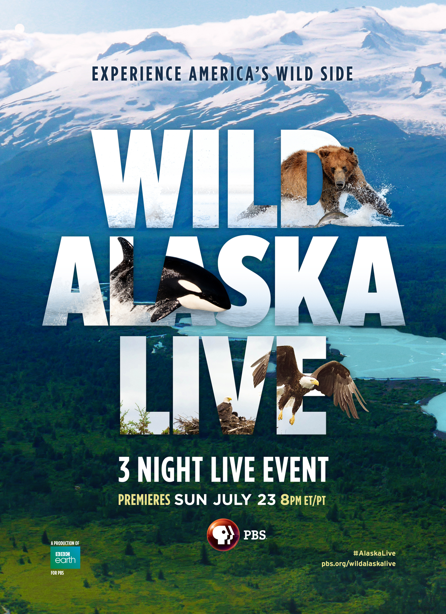 PROMOTION PHOTO: Wild Alaska Live, BBC Earth for PBS