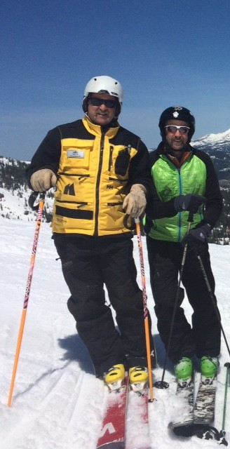 A photo of Chris Niccoli skiing with his brother, Mike.