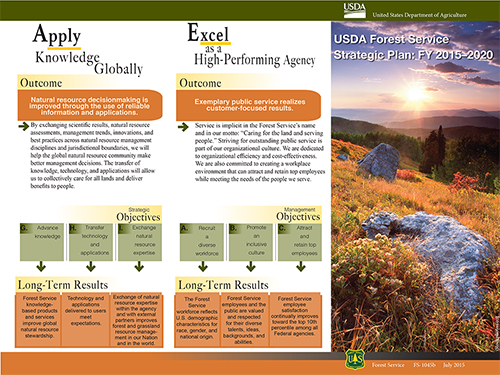 The illustrated cover of the Forest Service Strategic Plan