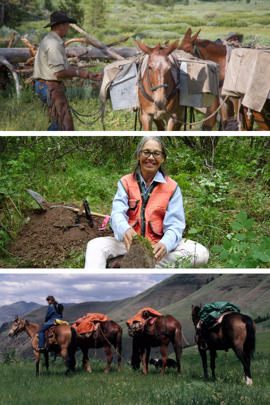 Photo collage of Forest Service employees at work.