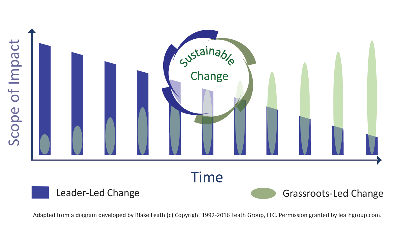 Sustainable change graph.