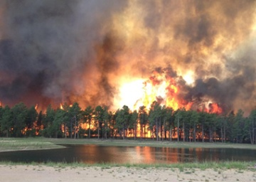 Flames overtake much of the Black Forest community near Colorado Springs,  Colo.
