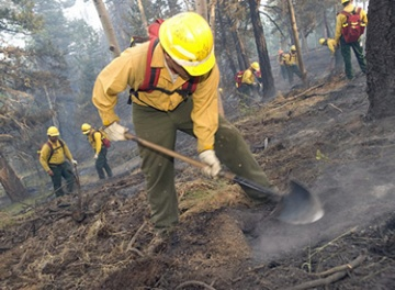 Firefighters work to mop up after the 2012 Waldo Canyon Fire.