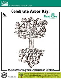 An illustration of Arbor Day treemaze