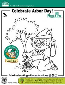 An illustration of Arbor Day Woodsy Owl
