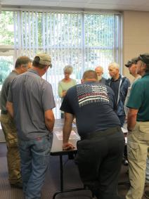 McDowell county mitigation partners review risk maps for next steps