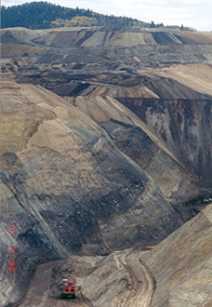 Open mineral mine