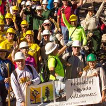 A group photo of a the friends of nevada wilderness group