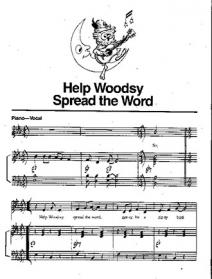 Woodsy Owl sheet music