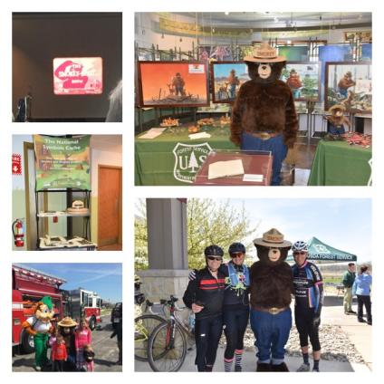 Collage of pictures from the Midewin Smokey Bear 75th celebration