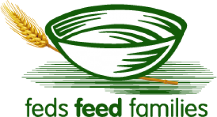 Graphic: a bowl and a sprig of weath - Feds Feed Families