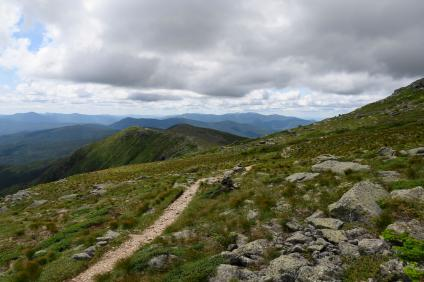 Spectacular, scenic views from the historic Crawford Path on the White Mountain National Forest, New Hampshire