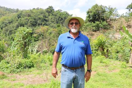 José (Tato) Roig, owner of the Café Roig farm, which lost 100,000 coffee shrubs after hurricanes Irma and Maria.