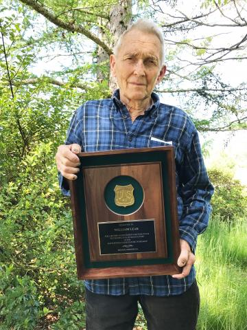 Bill Leak, research forester, was honored with the Forest Service's Silviculture Lifetime Achievement Award for 2019. USDA Forest Service photo.