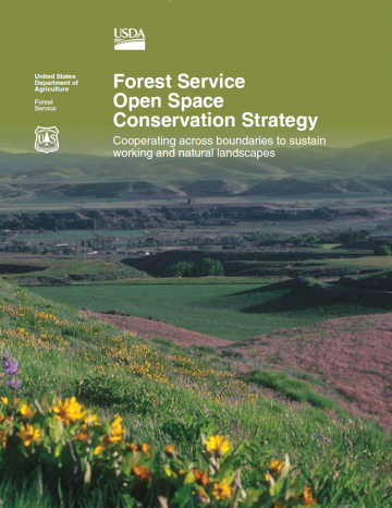 Forest Service Open Space Conservation Strategy cover.
