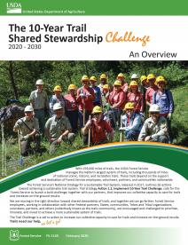 Cover page of the 10-Year Trail Shared Stewardship Challenge publication