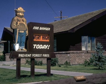 Smokey Bear lets visitors know the fire danger is very high in this file photo from Fishlake National Forest in Utah.