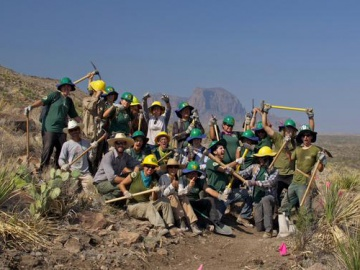 A photo of AmeriCorps project in partnership with Wilderness Society and KEEN.