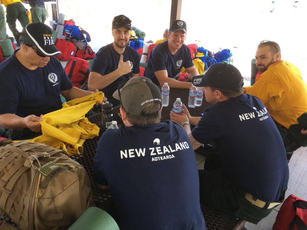 Australian and New Zealand fire fighters gear up and prepare to support our Forest Service crews in fighting west coast forest fires, National Interagency Fire Center, Boise, Idaho, Aug. 6, 2018. Forest Service photo by Cecilio Ricardo.