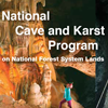 Cover for brochure that reads National Cave and Karst Program