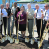 U.S. Forest Service Chief Tom Tidwell and other dignitaries participate in a ceremony to recognize Urban Releaf in Oakland, Calif., and the Green Street Research, Demonstration and Education Project.