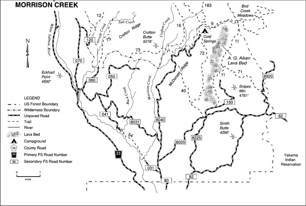 Morrison Creek Area Trail Map