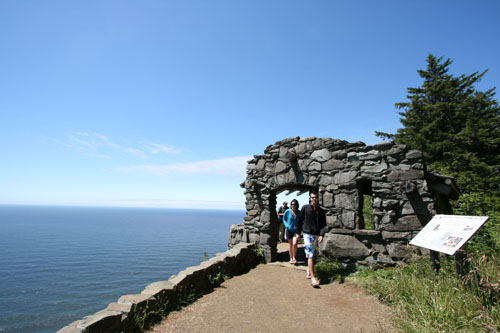 Historic Rock Shelter on the Cape Perpetua Whispering Spruce Trail