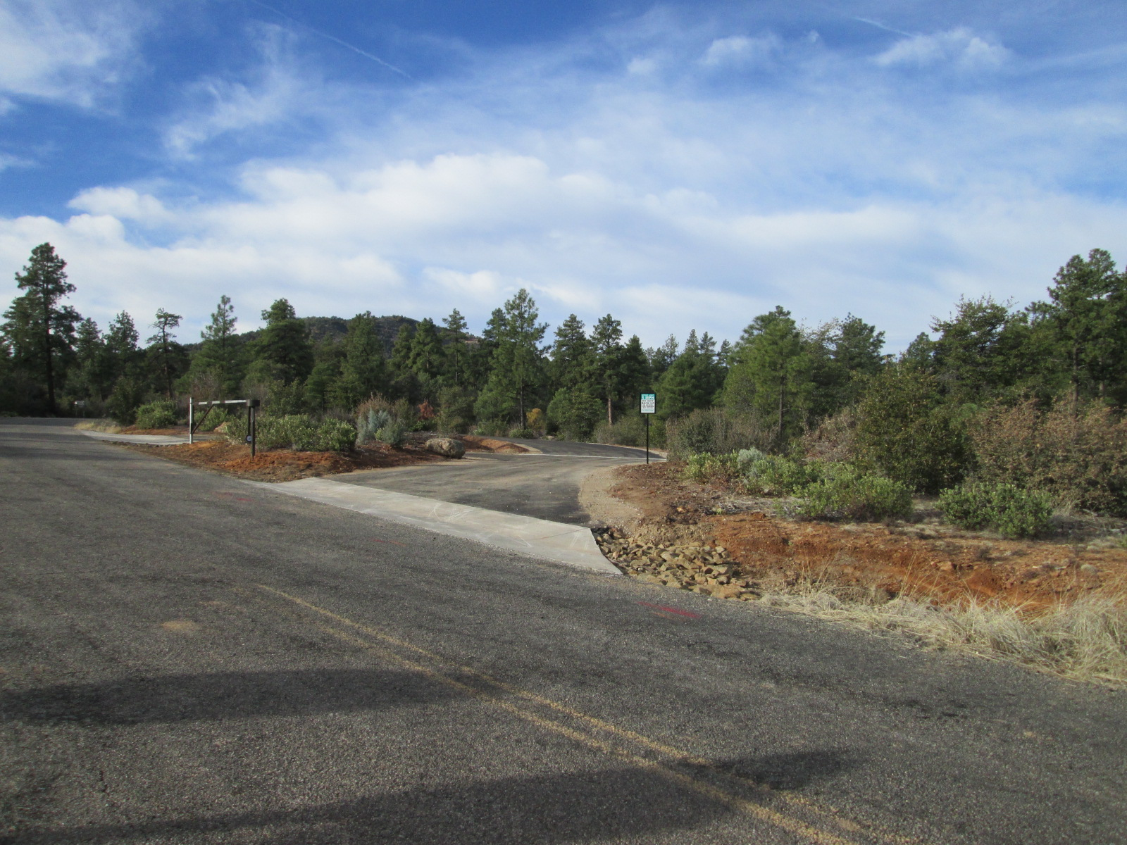 Forest Service New Gate On Road Entering Granite Basin Recreation Area